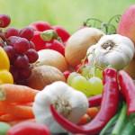 Лук, чеснок, овощи, фрукты